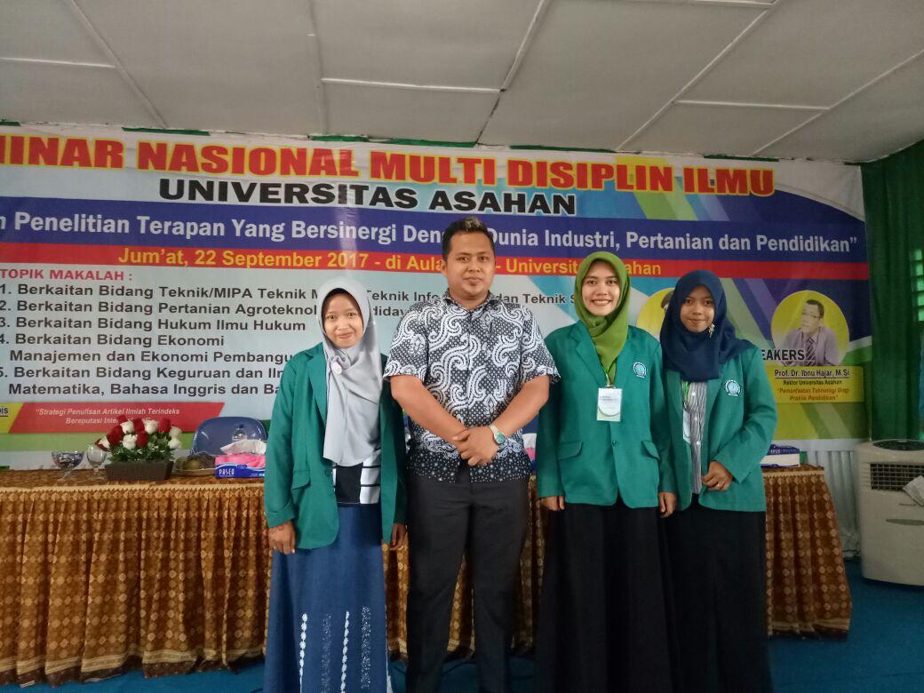 STIKOM Tunas Bangsa Pematangsiantar Kirim 4 Mahasiswa Pada Seminar Nasional 2017 di UNA Asahan